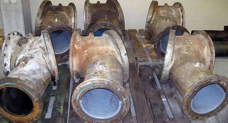 Abrasion Resistant Coatings - Mining - Diverter Vane